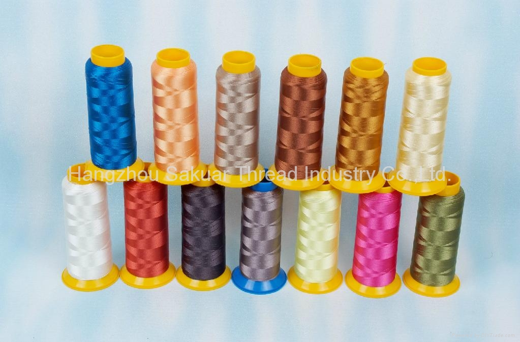 100% polyester Embroidery thread 75D/2 1