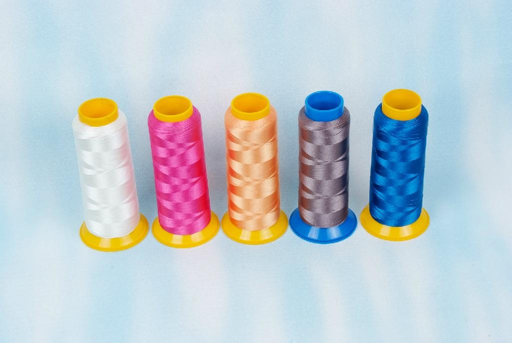 100% polyester Embroidery thread 75D/2 2