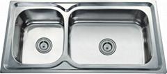 double bowl basins