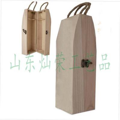 供應燦榮松木翻蓋單支葡萄酒盒 1