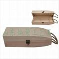 供應燦榮松木翻蓋單支葡萄酒盒 2