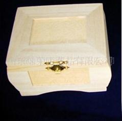 供应灿荣松木制首饰包装盒