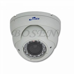 IR vandalproof dome camera with varifocal lens