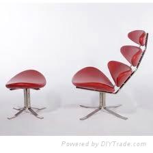 Paul Volther Corona Chair & Ottoman
