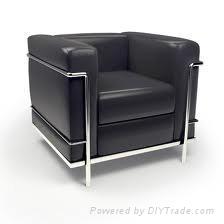 LC2 Le Corbusier armchair/LC3 armchair by Le Corbusier