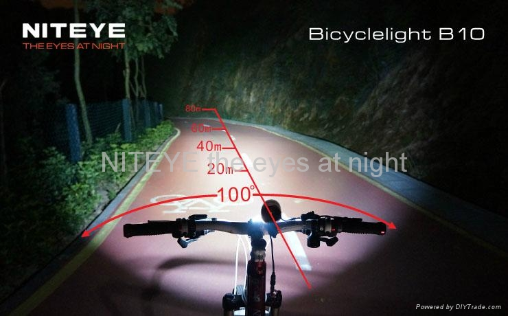 Niteye 600 lumens B10 LED bicycle light red with battery pack 3