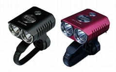 Niteye 1200 lumens B20 LED bicycle light red with battery pack