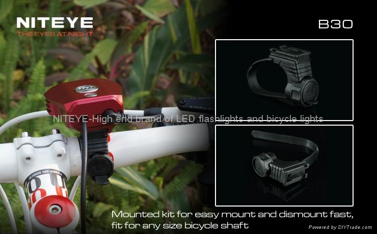 NITEYE 1000 lumens LED bicycle light B30 with remote control and battery pack 3