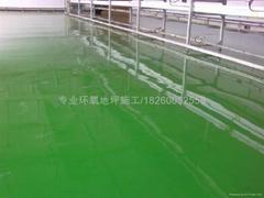 防静电自流平型环氧地坪涂装