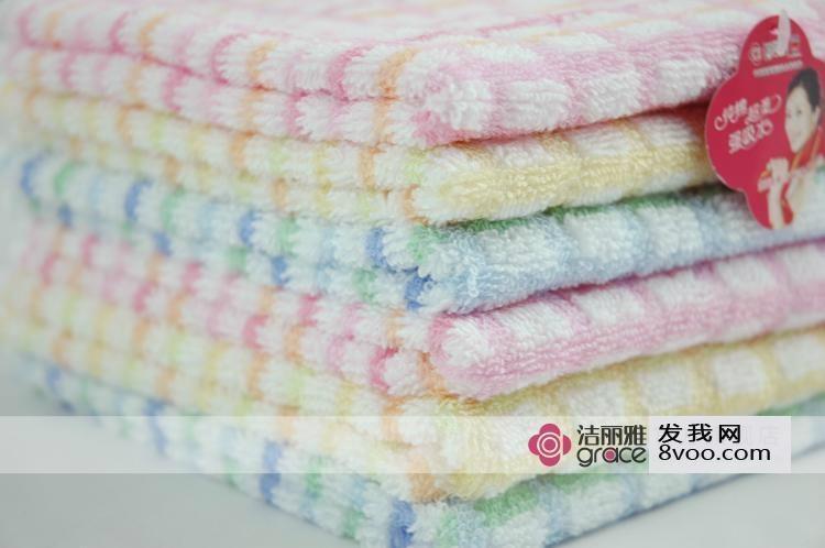 洁丽雅纯棉方巾 1