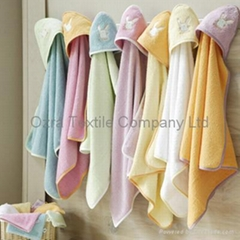 Cotton Baby hooded towels