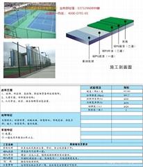 水性環保型硅PU球場材料