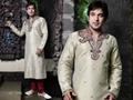 Indian wedding wear 5048 - Cream Brocade