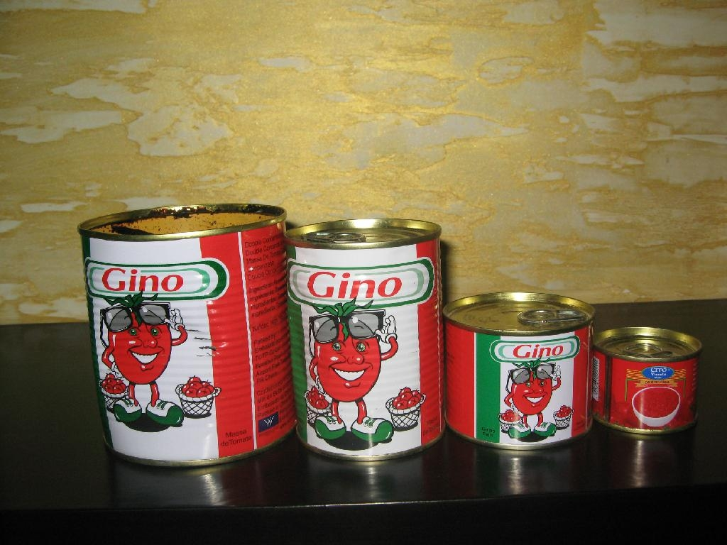18-32Brix tomato paste packed in 400g tin can 2