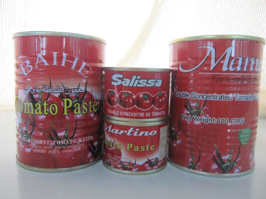 18-32Brix tomato paste packed in 850g tin can 1