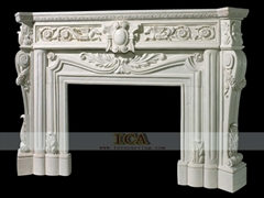 marble carving-fireplace