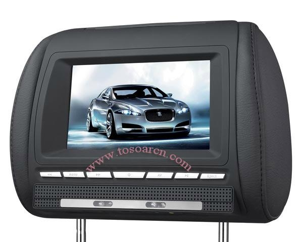 7 Inch Headerst DVD Player with Game USB SD IR 1