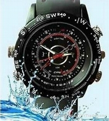 1280*960 Waterproof HD Watch Camera 16GB DVR Record