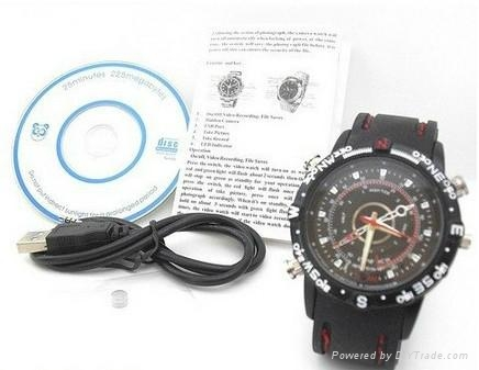 1280*960 Waterproof HD Watch Camera 16GB DVR Record  5