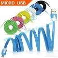 Noodle Flat Colorful MICRO USB 2.0 data
