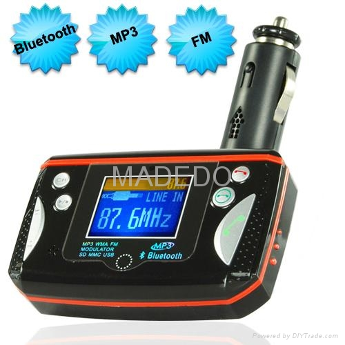 Bluetooth Car Kit for Bluetooth Calls and MP3 Music 1