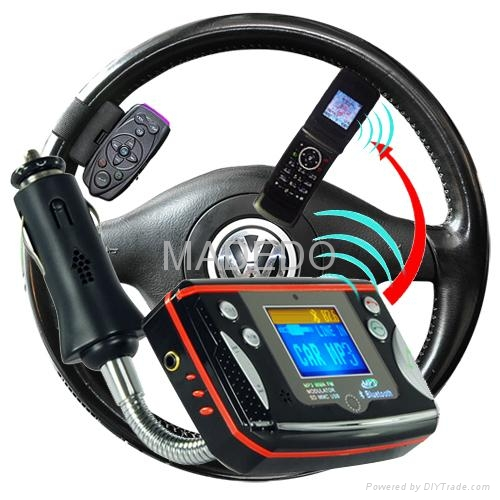 Bluetooth Car Kit for Bluetooth Calls and MP3 Music 2
