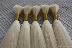 virgin remy hair bulk with cuticle on