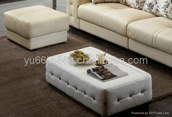 欧式两人位真皮沙发 4