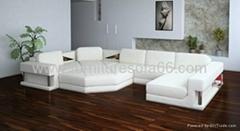 现代组合真皮沙发