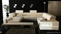 现代真皮客厅沙发 3