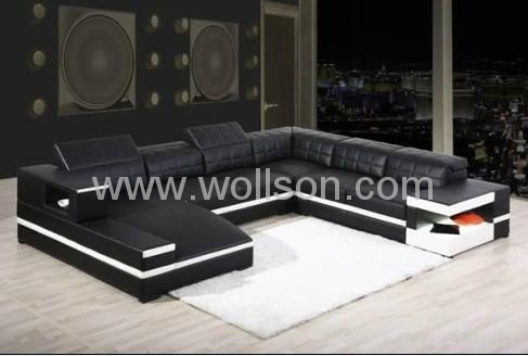现代真皮客厅沙发 4