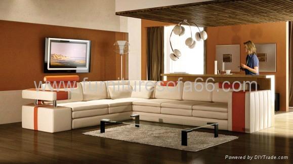 现代简约真皮沙发 1