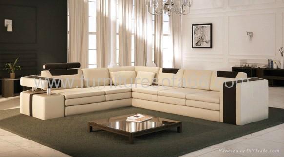 现代简约真皮沙发 2