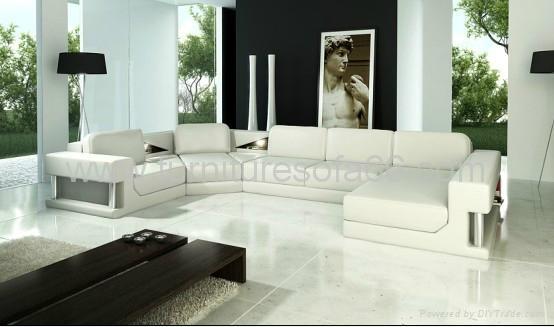 现代组合真皮沙发 3