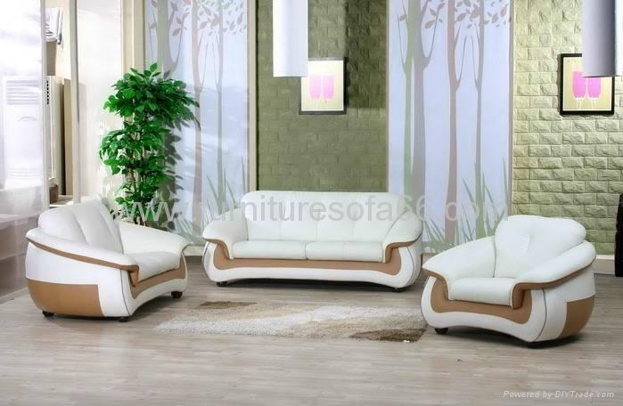 现代办公真皮沙发 4