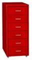 6-Draw Moblie Filing Cabinet