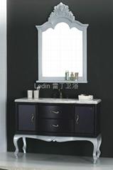 新款欧式风格仿古落地浴室柜