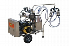 9J-I series oil and electricity rotary vane vacuum pump milking trolley