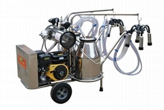 9J-II series oil and electricity rotary vane vacuum pump milking trolly