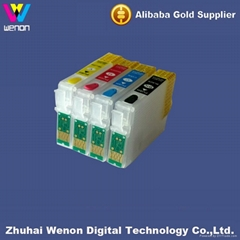 printer ink cartridge for epson T25 new 4 color printer ink cartridge