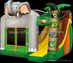 inflatable bouncer and slide