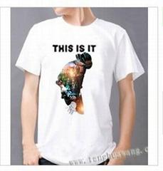 热转印个性时尚纯棉烫画T恤
