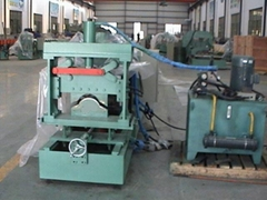 100-476 roof cap roll forming machine