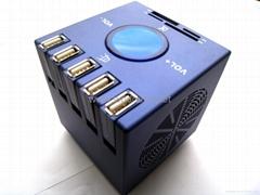 Combo Speaker:speaker+card reader+USB HUB