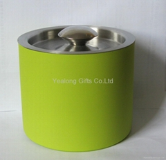 Color Painting Stainless Double Wall Stand Bucket of Ice