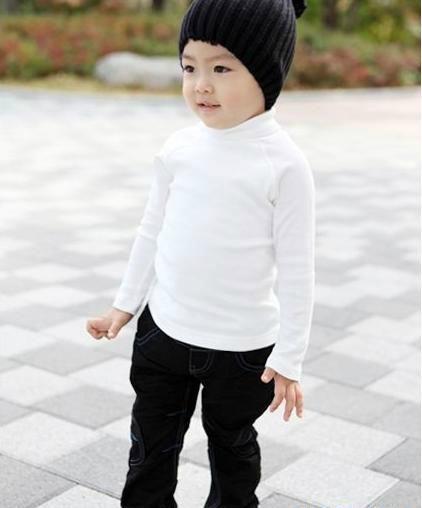 百搭纯色儿童保暖内衣 1