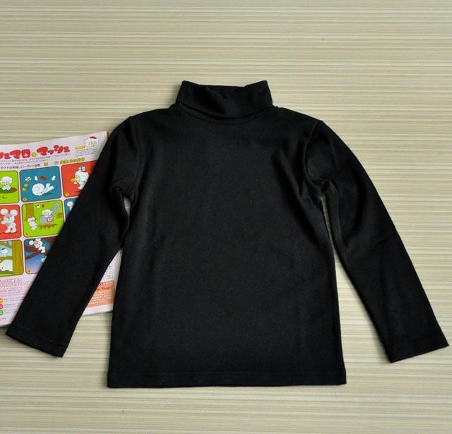 高品质纯色儿童打底衫 3
