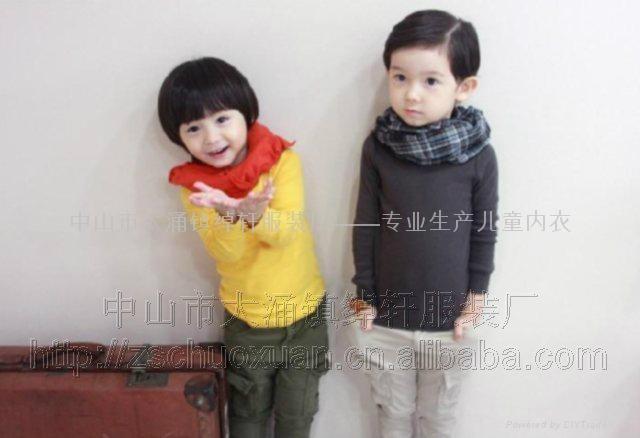 儿童圆领纯色T恤 1