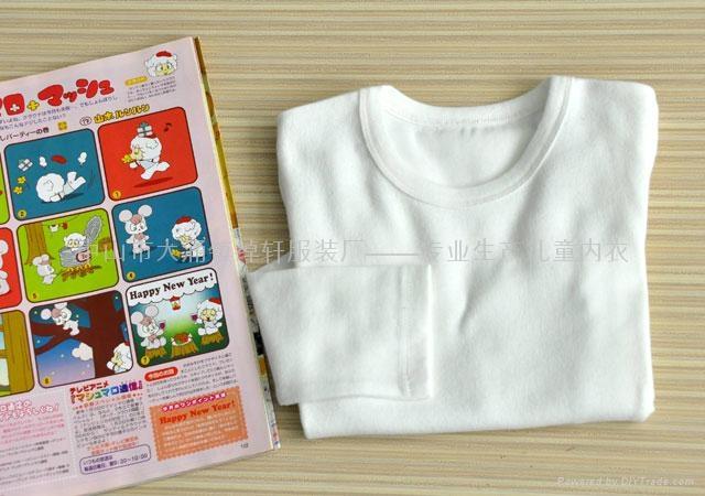 儿童圆领白色T恤 2