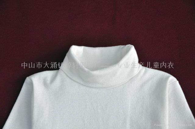 儿童高领白色T恤 2